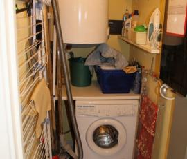 Berging met wasmachine